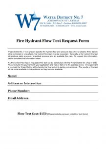 Fire Flow Test Request Form Thumbnail