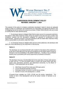 Subdivision Policy - Screenshot