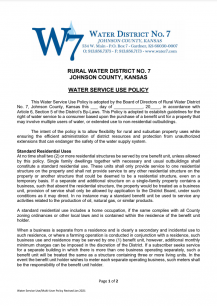 Water Service Use Policy - Screenshot